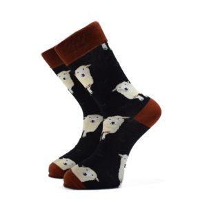 Černé ponožky s ovečkami
