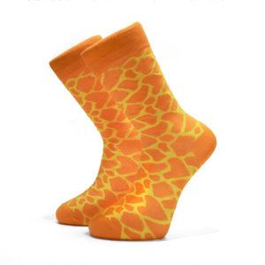 Oranžové ponožky se žlutými čárami