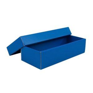 Dárková krabička s víkem 250x100x60:35, modrá matná